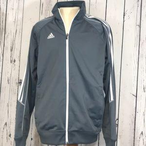 Adidas Men's grey zip up XL
